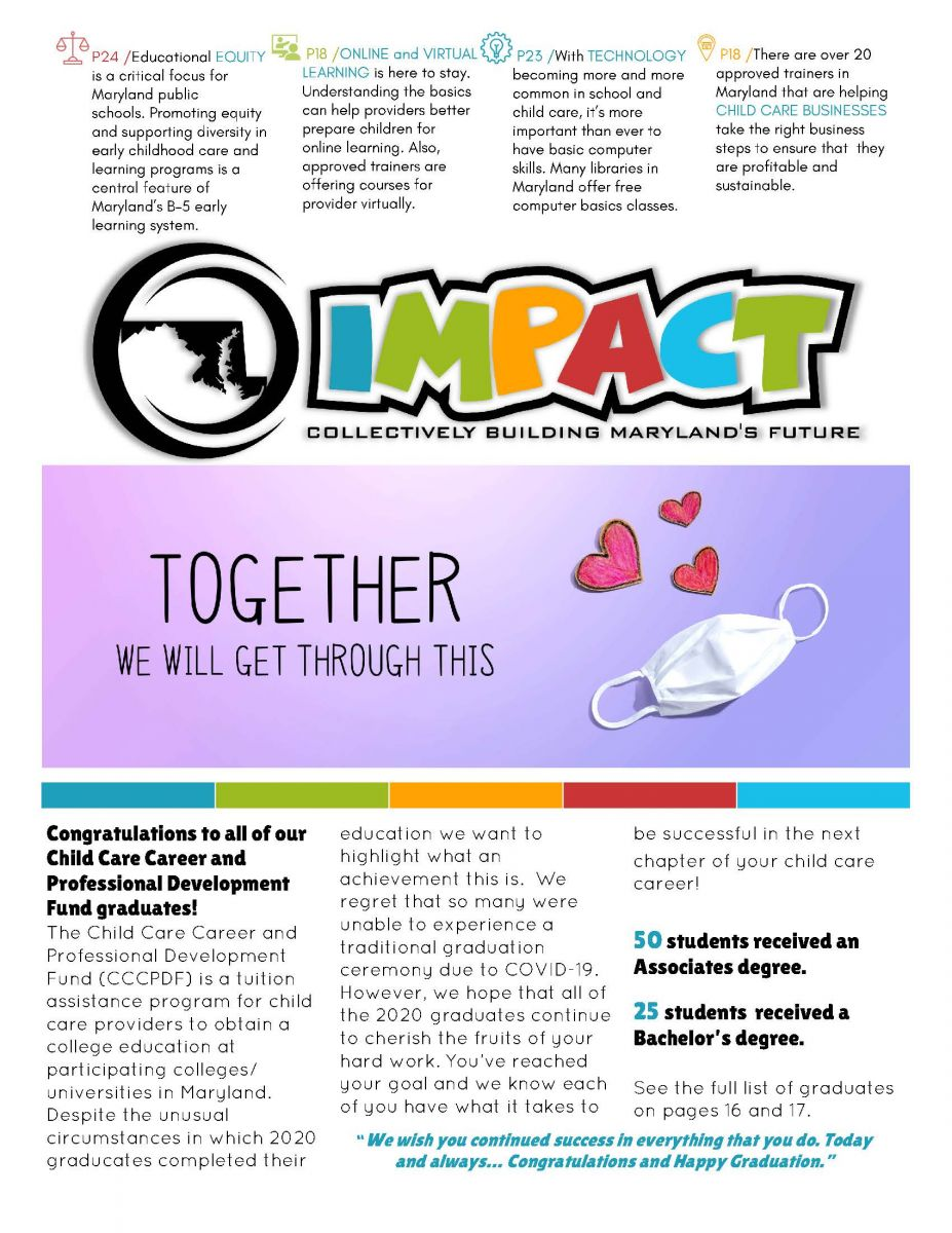 IMPACT Newsletter Fall 2020 Cover