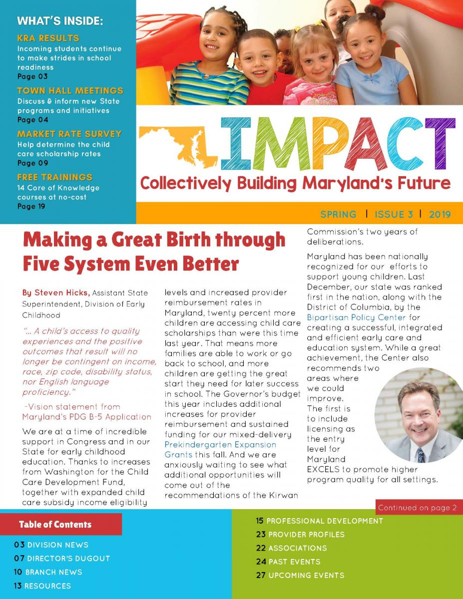 IMPACT Newsletter | Division of Early Childhood