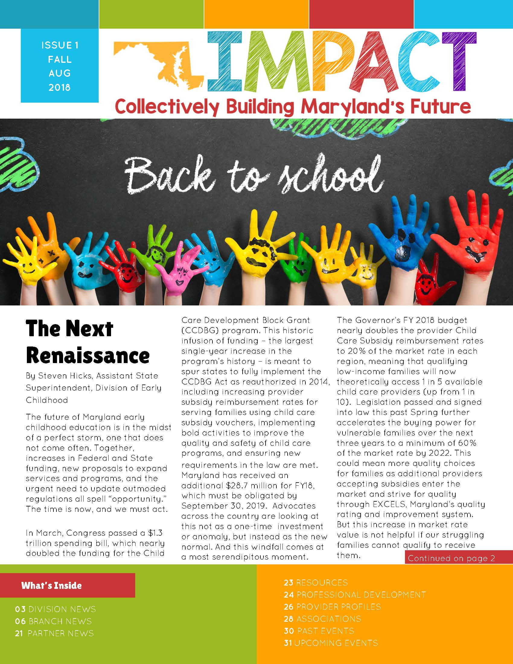 premiere issue of impact newsletter now available